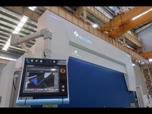 8 અક્ષ સીએનસી હાઇડ્રોલિક પ્રેસ બ્રેક 110 ટન 3200 એમએમ
