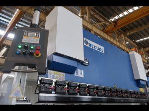 હાઇડ્રોલિક પ્રેસ બ્રેક MB7-100Tx3200mm ડિફેન્ડર લેઝર્સાફ અને ઇએલજીઓ પી 40 એનસી સિસ્ટમ સાથે