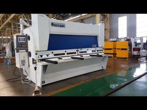 ELGO P40T CNC સિસ્ટમ સાથે માસ્ટર વેરિયેબલ રેક ગિલોટીન શીયરિંગ મશીન
