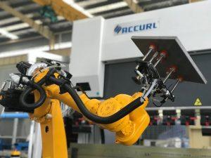 શીટ મેટલના સ્વચાલિત રોબોટ પ્રેસ બ્રેક માટે રોબિક બોન્ડિંગ સેલ સિસ્ટમ